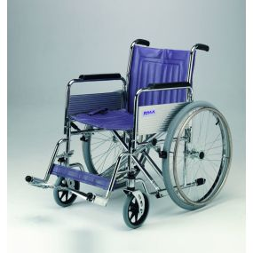 Heavy Duty Self-Propelled Wheelchair with Detachable Arms and Swing Away Footrests - 22