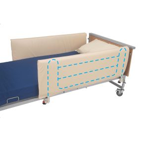 Conventional Cot Side Bumpers Closed Ends (Pair) Cream PVC - 134 x 48cm