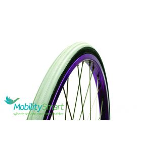 Coloured Primo Wheelchair Tyres (V-Trak) C1025 - 22 x 1 (25 x 501)