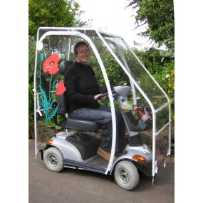 Deluxe Mobility Scooter Canopy - Completely Clear