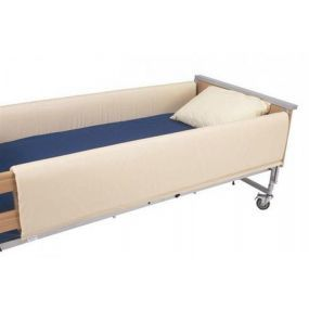 Conventional Cot Side Bumpers Open Ends (Pair) Cream PVC - 200 x 39cm