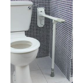 Cast Aluminium Drop Down Grab Bar - With Adjustable Leg