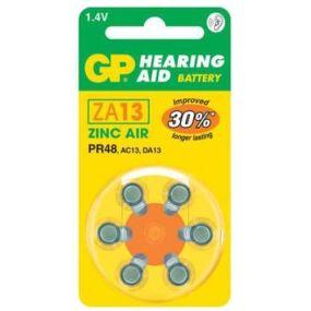 GP Hearing Aid Batteries - Type ZA13