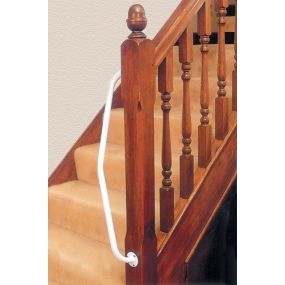 Newel Post Hand Rail - left Angle