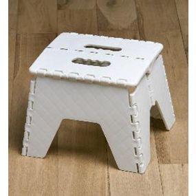 Robust Plastic Folding Step Stool - White