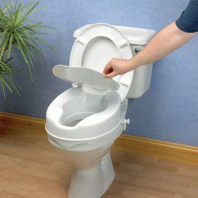 Savanah Raised Toilet Seat With Lid - 10cm