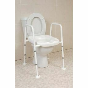 Mowbray Extra Wide Toilet Frame And Seat - Floor Fixed