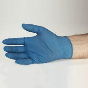 Healthguard Blue Vinyl Exam Gloves - Powder Free (Medium)