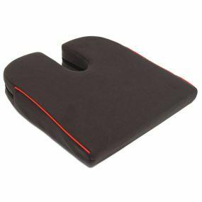 Harley 8° Coccyx cut-out    Wedge Cushion - Black (14x14x2.75