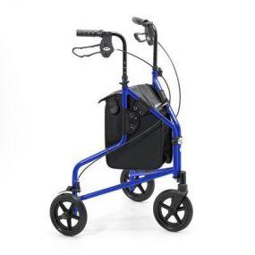 Lightweight Aluminium Folding Tri Walker (With Bag) - Blue