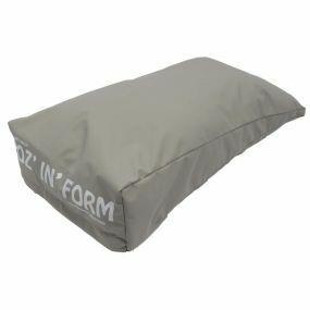Poz 'n' Form Vinyl Cover Hand Cushion - Grey (17.5x9x3