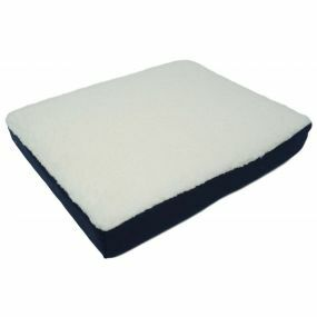 Gel Fleece Cover Cushion - White&Blue (18x14x2.75