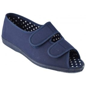 Fern-Twin Velcro Shoe Navy (Size 7 )