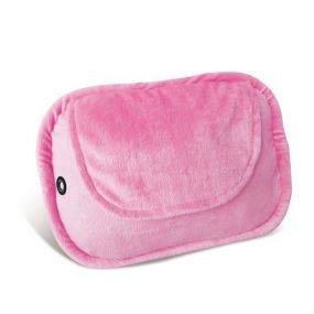 4 Ball Shiatsu Heated Cushion with Pink Plush Cover