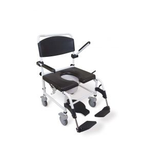 Bariatric Attendant Propelled Showering Toileting Commode Chair