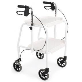 Combination Trolley Walker - White