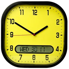 High Contrast Day Date Wall Clock