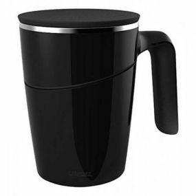 Non-Tip Vacuum Cup / Anti-Spill Mug - Black