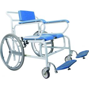 Bariatric Self Propelled Wheeled Shower Commode Chair - Standard Armrest 28