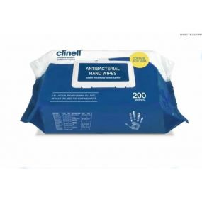 Clinell Antibacterial Hand Wipes (200 Pack)