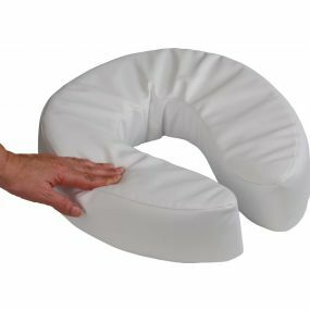 Padded Raised Toilet Seat With Straps - 10cm (4