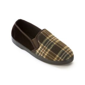 Slippers - Peter Size 9 (Brown)