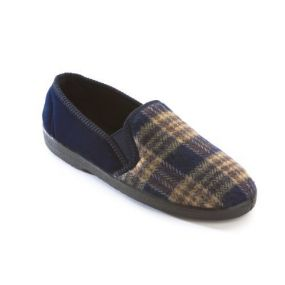 Slippers - Peter Size 10 (Navy)