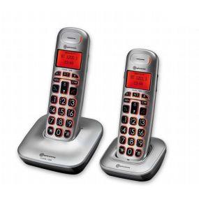 Amplicomms BigTel 1202 Pair Of Cordless Portable Telephones