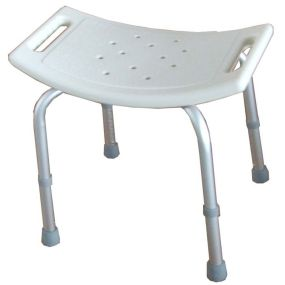 Curved Seat Shower Stool