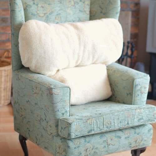 Faux Sheepskin Fleece Back Pillow   General Cushions   Cushions U0026 Supports