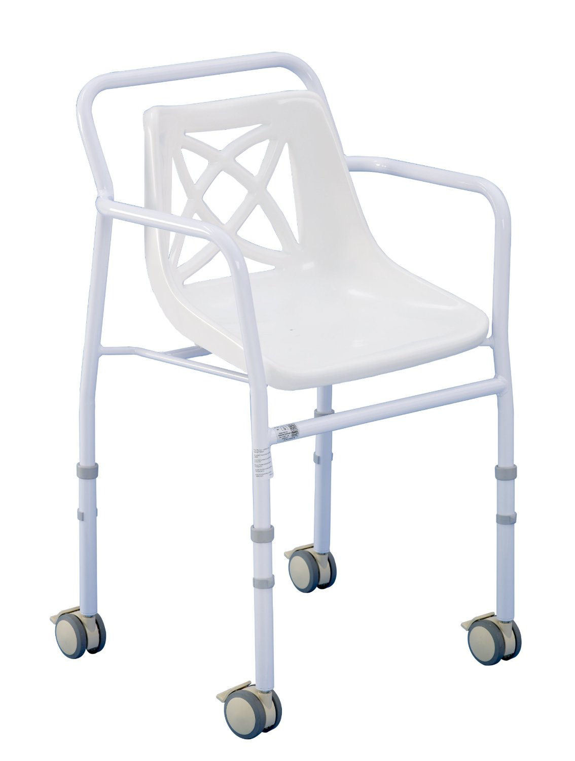 Harrogate Shower Chair - Wheeled Adjustable Height - Shower Chairs ...