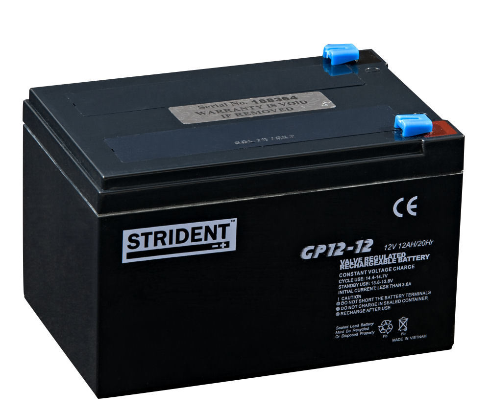strident mobility battery agm 12v 12ah mobility batteries
