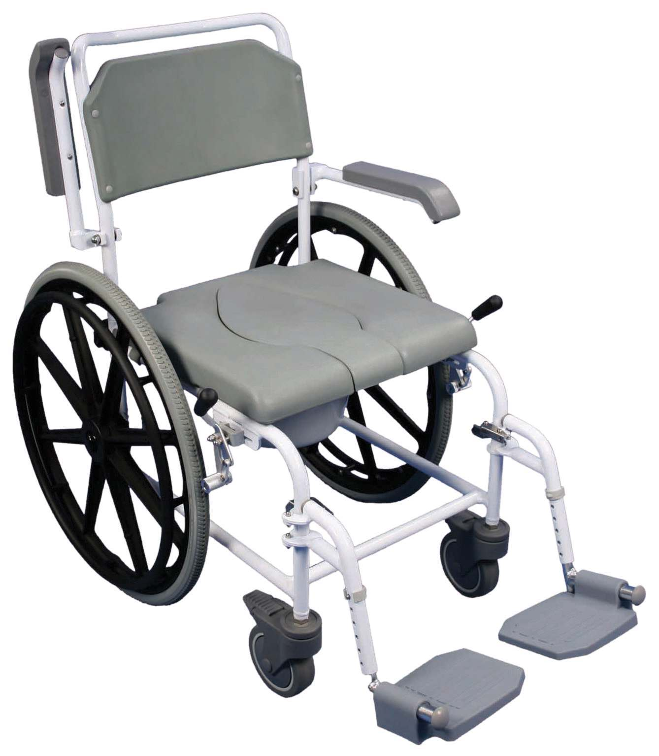Handicap shower chairs pvc reclining shower commode chairs - The Bewl Self Propelled Shower Commode Chair Shower Chairs
