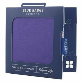 Cloth Blue Badge Wallet - Purple Drill