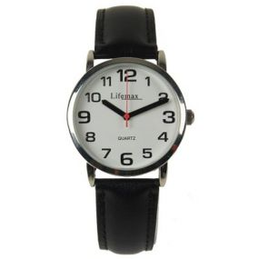 Clear Time Watch - Mens Leather Strap