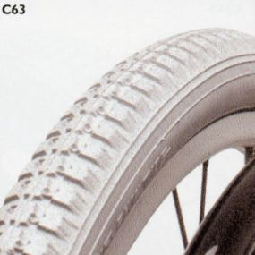 Cheng Shin - Pneumatic Grey Tyre (Block Pattern C63) - (22 x 1⅜ - 37-501)