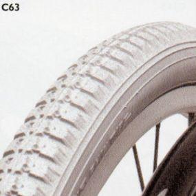 Cheng Shin - Pneumatic Grey Tyre (Block Pattern C63) - Size: 24 x 1⅜