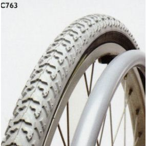 Grey Primo Wheelchair Tyre C763 - 24 X 1 3/8 (37 x 540)