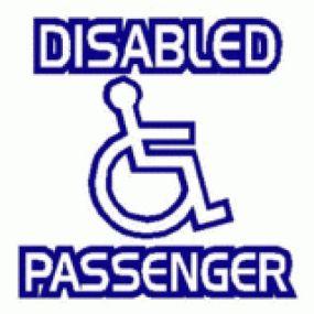 Square Disabled Passenger - Car Sticker 18