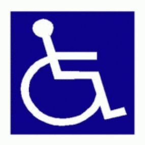 Wheelchair Logo - Car Sticker 24