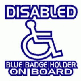 Disabled Blue Badge Holder On Board - Car Sticker 25