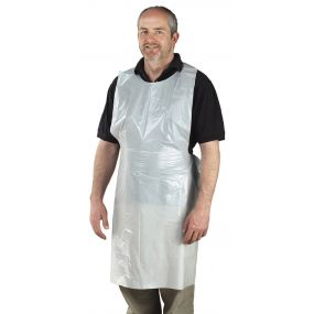 Disposeable Aprons White - Standard (2Hanging Packs Of 100)