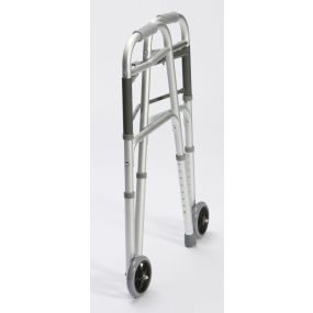 Folding Walking / Zimmer Frame With Wheels