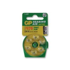 GP Hearing Aid Batteries - Type ZA10