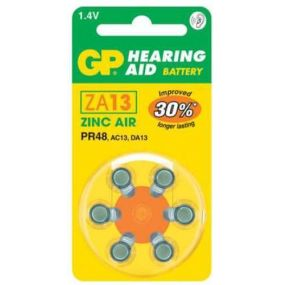 GP Hearing Aid Batteries - Type ZA13