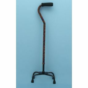 Small Base Red Paisley Quad Cane