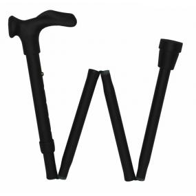 Comfort Grip Cane Adjustable, Folding - Black, Left Handed (33-37