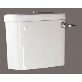 Pipe Connected or Low Level Cistern with Screw Down Lid & Flush Handles