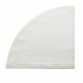 Antimicrobial Slip Resistant Corner Shower Mat - White