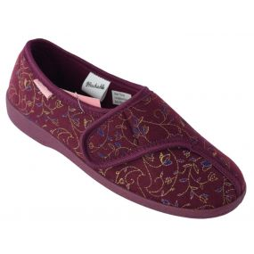 Dunlop Bluebell Ladies Slippers - Size 8 (Burgundy)
